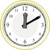 Uhr auf die Minute genau 1