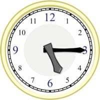 Uhr auf die Minute genau 4