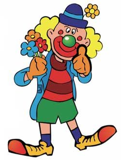 Funny Clown learning time Uhrzeit lernen