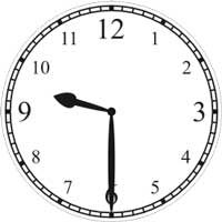 halb 10 Uhr - half passed 9