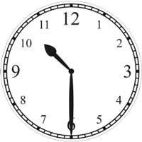 halb 11 Uhr - half passed 11