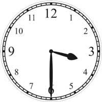 Halb 4 Uhr - half passed 3