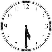 halb 6 Uhr - half passed 5
