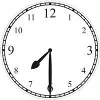 Halb 8 Uhr - half passed 7