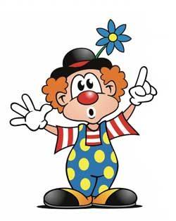Lustiger Clown volle Stunde