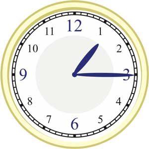 Der Stundenzeiger und Minutenzeiger