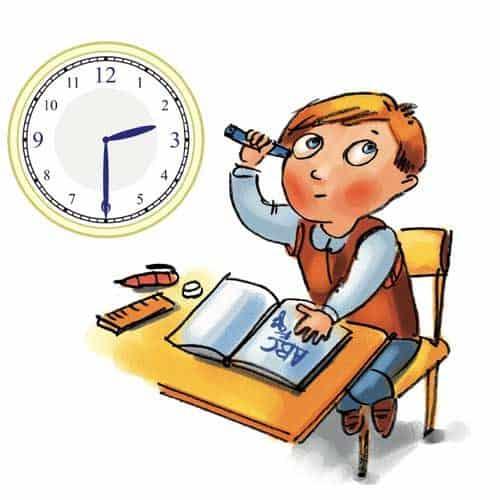 Textaufgaben Uhrzeit lernen