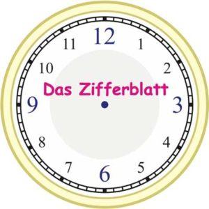 Zifferblatt der Uhr Uhrzeit lernen